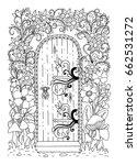 fairy tale door among the... | Shutterstock .eps vector #662531272