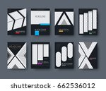 templates of black covers for... | Shutterstock .eps vector #662536012