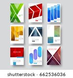 set of white covers for reports ... | Shutterstock .eps vector #662536036