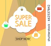 summer sale banner design for... | Shutterstock .eps vector #662537842