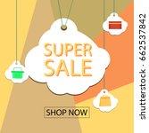 summer sale banner design for... | Shutterstock .eps vector #662537842