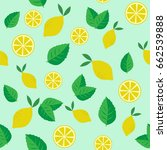 seamless vector pattern with... | Shutterstock .eps vector #662539888