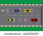 race start top view background... | Shutterstock .eps vector #662544292