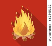 bonfire.tent single icon in... | Shutterstock .eps vector #662545132