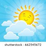 happy sleeping sun theme image... | Shutterstock .eps vector #662545672
