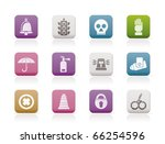 surveillance and security icons ...   Shutterstock .eps vector #66254596