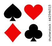 Playing Card Symbols Isolated...