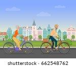 active senior character  age... | Shutterstock .eps vector #662548762