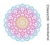 flower mandala. printable... | Shutterstock .eps vector #662549812