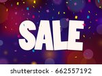 sale. vector sale background.... | Shutterstock .eps vector #662557192