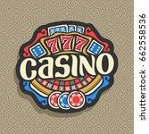 vector logo for casino ... | Shutterstock .eps vector #662558536
