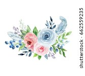 painted watercolor composition... | Shutterstock . vector #662559235