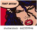 pop art syle comic book panel... | Shutterstock .eps vector #662559946