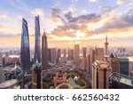 Shanghai Skyline And Cityscape...