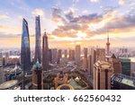 Shanghai Skyline And Cityscape...