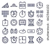 minute icons set. set of 25... | Shutterstock .eps vector #662566102