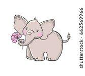 cute hand drawn cartoon... | Shutterstock .eps vector #662569966