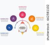 modern infographic ribbons... | Shutterstock .eps vector #662581102