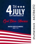 american independence day. god... | Shutterstock .eps vector #662586352