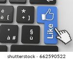 like button   3d | Shutterstock . vector #662590522