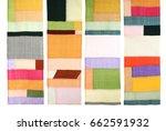 korean traditional patchwork...   Shutterstock . vector #662591932