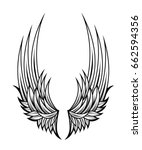 tattoo design with angel wings | Shutterstock .eps vector #662594356