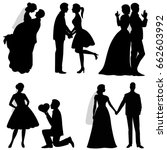 the bride and groom. set.... | Shutterstock .eps vector #662603992