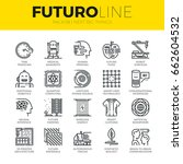 unique thin line icons set of... | Shutterstock .eps vector #662604532