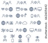 set it icons. internet security ... | Shutterstock .eps vector #662605642