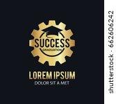 gold success graduation hat logo   Shutterstock .eps vector #662606242