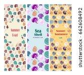 set of vector summer travel... | Shutterstock .eps vector #662608492