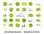collection of vector eco  bio... | Shutterstock .eps vector #662613316