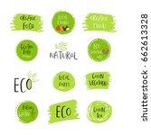 collection of vector eco  bio... | Shutterstock .eps vector #662613328