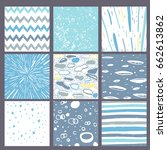 hand drawn pattern collection.... | Shutterstock .eps vector #662613862