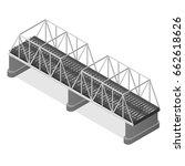 steel railway bridge isometric... | Shutterstock . vector #662618626
