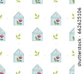 seamless pattern with sweet... | Shutterstock .eps vector #662625106