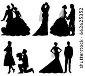 the bride and groom. set.... | Shutterstock .eps vector #662625352