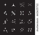 sparkles icon | Shutterstock .eps vector #662625712
