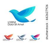 bird in flight  trendy... | Shutterstock .eps vector #662627926