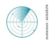 radar screen icon. vector... | Shutterstock .eps vector #662628196