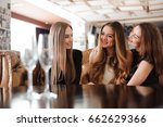 empty glasses of champagne on... | Shutterstock . vector #662629366