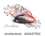 creative mouse design... | Shutterstock .eps vector #662637502