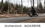 man riding sportster motorcycle ... | Shutterstock . vector #662638048