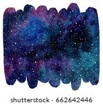 brush drawn shape cosmic... | Shutterstock . vector #662642446