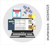 pay bills tax online receipt...   Shutterstock . vector #662644225