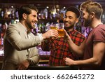 happy smiling male friends... | Shutterstock . vector #662645272
