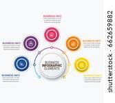 infographics template vector | Shutterstock .eps vector #662659882