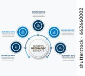 infographics template vector | Shutterstock .eps vector #662660002