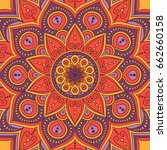 mandala. ethnic round ornament. ... | Shutterstock .eps vector #662660158