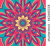 mandala. ethnic round ornament. ... | Shutterstock .eps vector #662660218